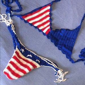 Other - NWOT patriotic America crochet handmade bikini